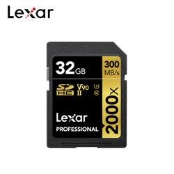 Lexar oryginalna profesjonalna karta SD 2000x128GB 64GB 32GB SDHC SDXC V90 do 300 MB/s karta pamięci do aparatu cyfrowego