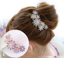 Женская заколка для волос с лепестками цветов