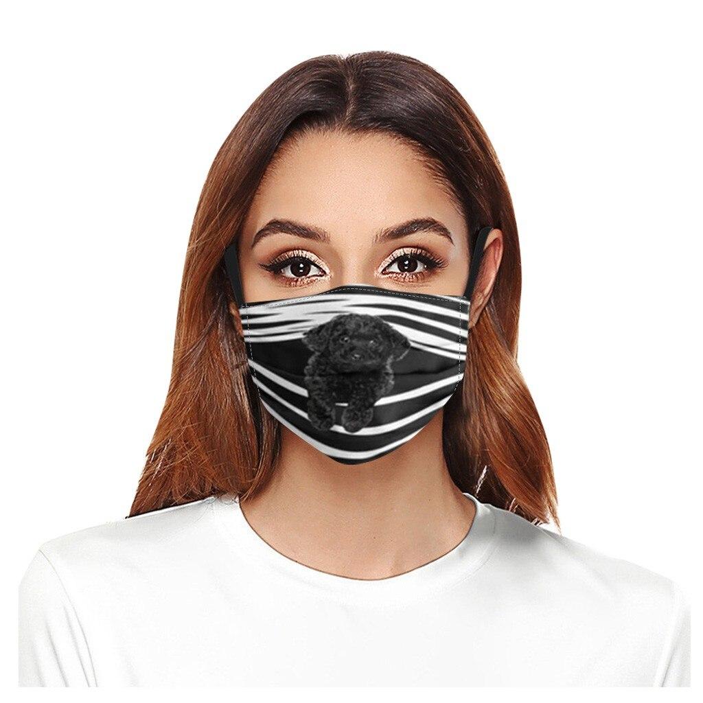 Geral cães imprime respirável lavável máscara rosto filtro de cobertura pode ser colocado reutilizável boca capa tecido máscaras mascarilla d55 3