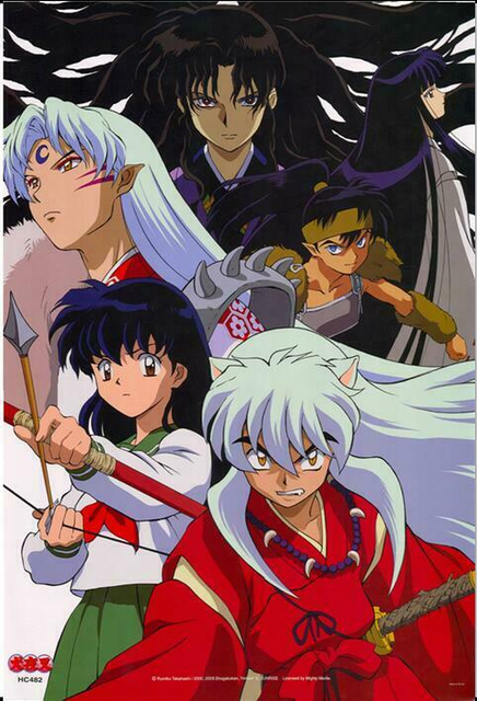 13 Styles Inuyasha Anime Silk Poster Door Room Decals Art Print Wall Decoration