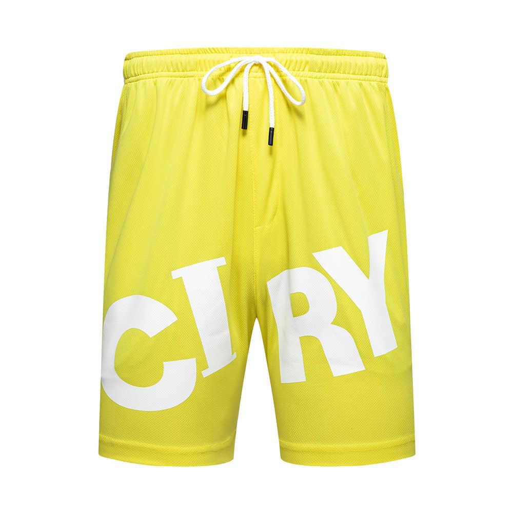 De verano Pantalones cortos de playa de los hombres carta impresión deportivos, pantalones cortos de algodón gimnasio entrenamiento Shorts pantalones 2020 nueva moda bañador hombre