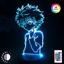 3d lampka nocna dla dzieci dekoracja sypialni dla dzieci Anime Hunter X Hunter Nightlight Dropshipping Manga prezent Hunter X Hunter lampka nocna tanie tanio NoEnName_Null Night Light CN (pochodzenie) ROHS Z tworzywa sztucznego Żarówki led Touch 110 v 220 v Suche baterii HOLIDAY