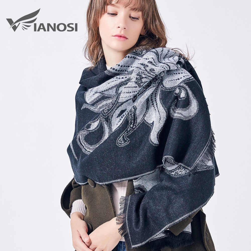 Vianosi Merek Musim Dingin Wanita Syal Lembut Selendang Hangat Fashion Cachecol Menebal Syal Panjang Echarpe Wanita