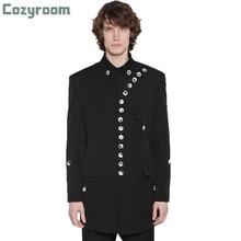 Blazer Jacket Yamamoto-Style Clothing Slim Large-Size Casual Mens Long-Sleeved Single-Breasted