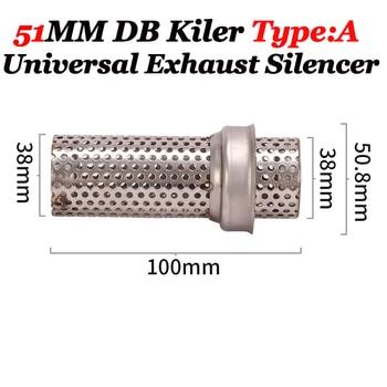 50.8mm 60mm Motorcycle Exhaust Metal Catalyst DB Killer Silencer Muffler Baffle For Yamaha For Suzuki Dit Bike Moped