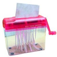 Mini mão shredder portátil papel retalhadora a6 manual documentos ferramenta de corte de papel escritório em casa desktop artigos de papelaria