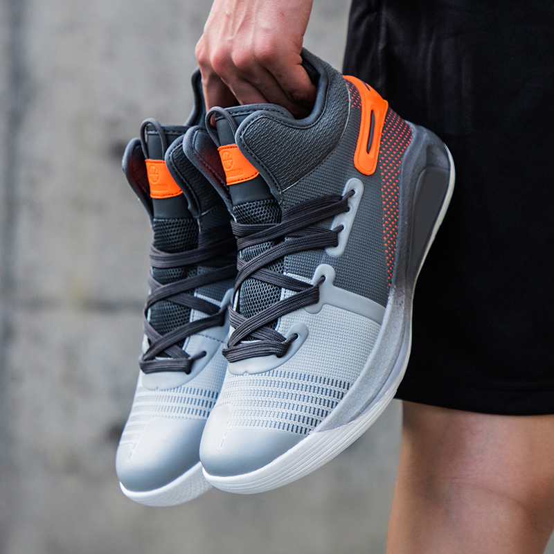 Shoes Basketball-Shoes Couple High-Top Breathable Anti-Skid Men Air-Cushion title=