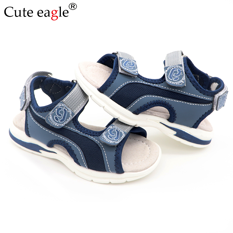 Boys Sandals Kids Sandals Children Shoes Cut-outs Rubber Leather School Sport Shoes Breathable Open Toe Casual Boys Sandals New