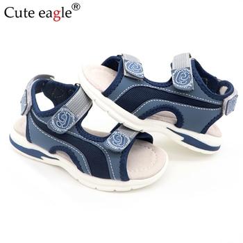 Boys Sandals Kids Sandals Children Shoes Cut-outs Rubber Leather School Sport Shoes Breathable Open Toe Casual Boys Sandals New leather sandals boys 2020 100