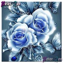 100% полная алмазная живопись роза узор вышивка цветок картина