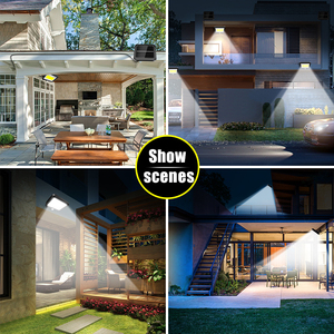 Image 5 - 56 LED Solar Light Outdoor Indoor Garden Lights Waterproof PIR Motion Sensor Wall Lamp Separable Solar Lamp With Line