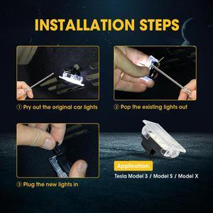 Image 5 - 12pcs LED אור נורות ערכת עבור טסלה דגם Y דגם 3 דגם S דגם X LED פנים אור בהיר קל Plug החלפת שדרוג