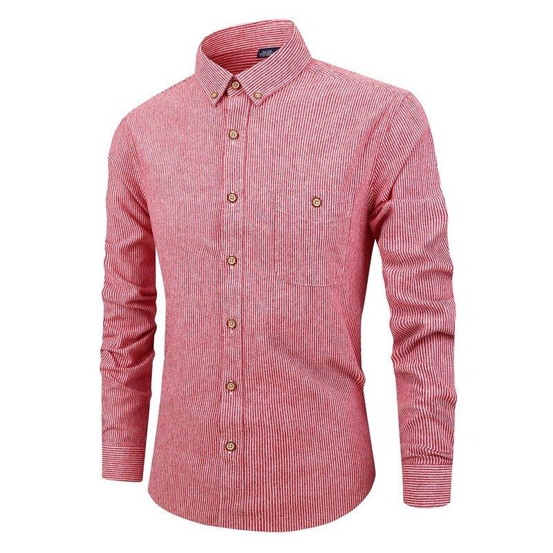 Хит продаж 2019, Осенние новые модные полосатые мужские рубашки с длинным рукавом, повседневные мужские рубашки, мужская одежда