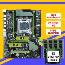 Комплект материнской платы HUANANZHI X79 Dual M.2 SSD слот ЦП Intel Xeon E5 2650 V2 большой бренд RAM 32 Гб (4*8 ГБ) RECC купить компьютер