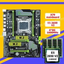 Huananzhi X79スーパーマザーボードバンドルデュアルドライブM.2 ssdスロットcpuインテルxeon E5 2650 V2ビッグブランドram 32グラム (4*8グラム) recc購入コンピュータ