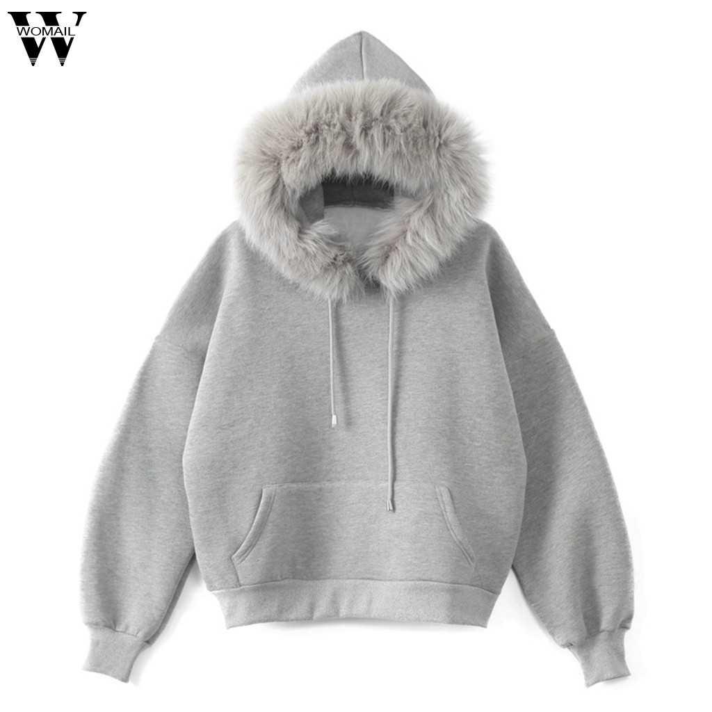 Womail Vrouwen Lange Mouw Sweatshirt Print Lange Mouwen Casual Hooded Sweater Trui Top Leuke Sport Vrouwen Sweatshirt M-2XL
