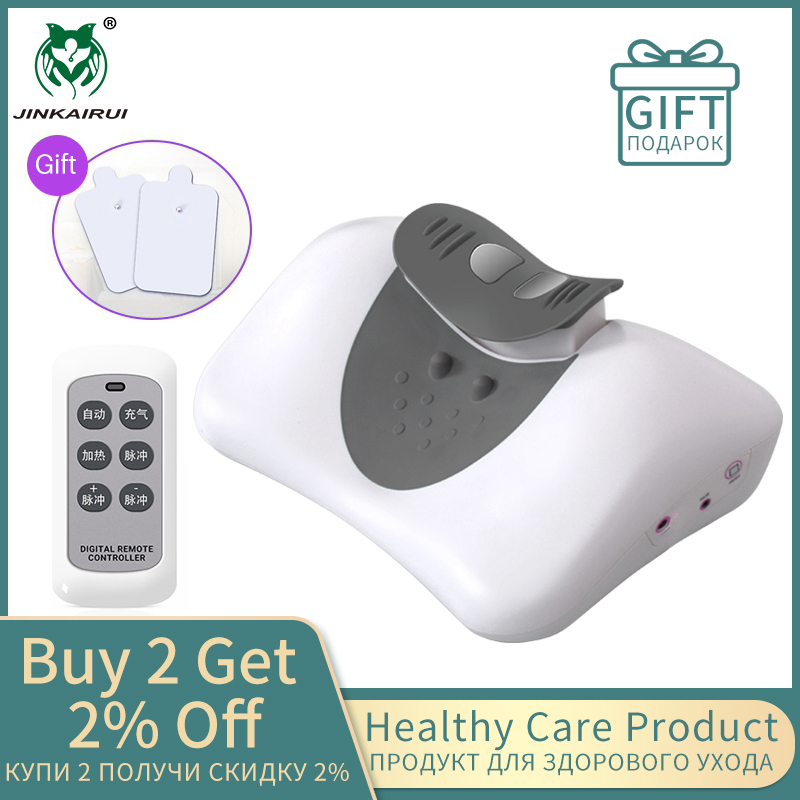 Newest Cervical Massage Pillow Physiotherapy Heating Correct Neck Bow Head Promote Sleep Quality Traction And Low FrequencyPulse