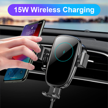 15W voiture Qi chargeur sans fil pour iPhone induction usb montage automatique serrage rapide sans fil charge pour iphone 11 Samsung SIKAI