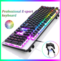 K002 RGB Gaming Keyboard backlit Metal Wired Mechanical Game E sports Professional Keyboard Computer peripherals