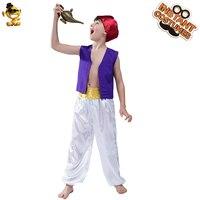 Halloween Child Aladdin Prince Costume Role Play Carnival Party Boy's Arabian Aladdin Suit Costumes