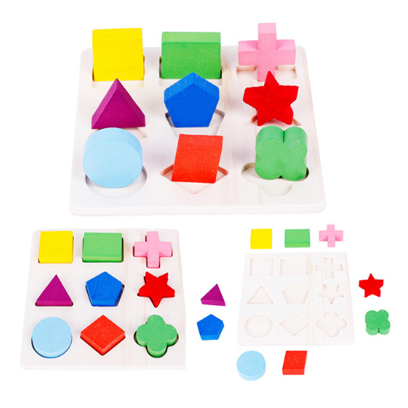 Wooden Math Toys Puzzle Baby Kids Learning Toy Preschool  Early Childhood Education Montessori Game For Toddlers Children