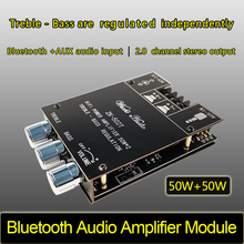 ZK 502T TPA3116D2 Bluetooth 5.0 סאב מגבר לוח 2.0 ערוץ גבוהה כוח אודיו סטריאו מגבר לוח 2*50W בס AMP