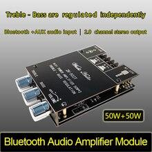 ZK 502T TPA3116D2 Bluetooth 5.0 Subwoofer Amplifier Board 2.0 Channel High Power Audio Stereo Amplifier Board 2*50W Bass AMP