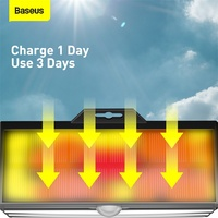 Baseus LED Solar Lamp Waterproof Outdoor Solar Garden Lights PIR Motion Sensor Wall Lamp Solar Light For Garden Lawn Lamp