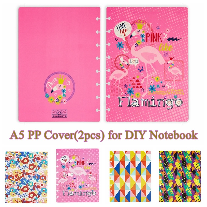 A5 PP Notebook Cover 8 Mushroom Holes PP Cover For Daily Planner Schedule Loose Leaf Paper Discbound Discs Bingding Accessories