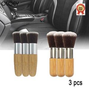 Image 1 - 3 adet yumuşak araba fırça temizleme araba temizleme aracı doğal domuzu saç fırçaları otomatik detay araçları tekerlekler pano