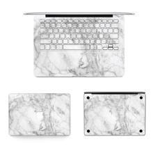 White Marble Laptop Vinyl Decal Top Skin Wrist Pad Sticker for Macbook Air Pro Retina 12