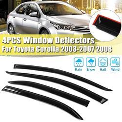 Autoruit Regenkap Vizier Guards Protector Zon Wind Deflector Luifel Shade Cover Voor Toyota Corolla 2003-2008 Auto accessoires