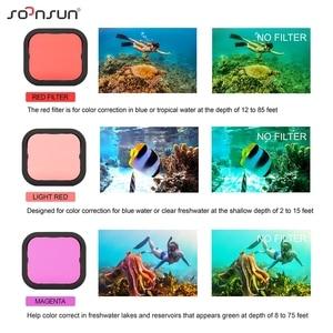 Image 5 - SOONSUN 40 M กันน้ำใต้น้ำป้องกัน 3 Pack กรองเลนส์ดำน้ำสำหรับ GoPro HERO 7 SILVER /สีขาว Go Pro 7