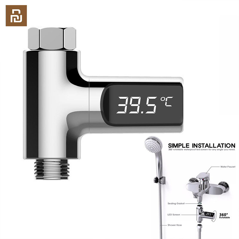 Chuveiro de Água Cuidados com o Bebê Display Casa Termômetro Temperatura Medidor Monitor Cozinha Banheiro Inteligente Led
