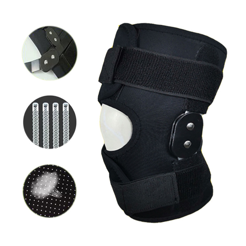 Adjustable Knee Brace Orthosis Ligament Support Sport Injury Orthopedic Splint Stabilizer Medical Joint Knee Pain Pads Outdoor