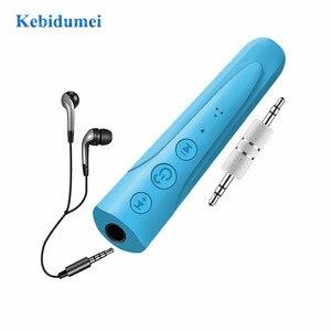 Image 1 - Kebidumei AUX 2018 3.5 millimetri I8 Cuffia Senza Fili di Bluetooth Ricevitore MP3 Lettore Audio Car Kit Handsfree del Trasduttore Auricolare Con Il Mic Per telefono