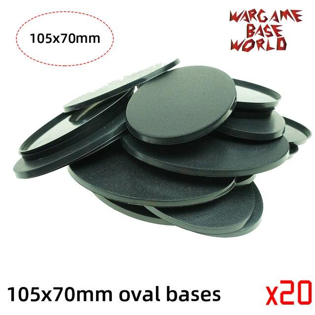 wargame base world -105 x 70mm oval bases for Warhammer 4