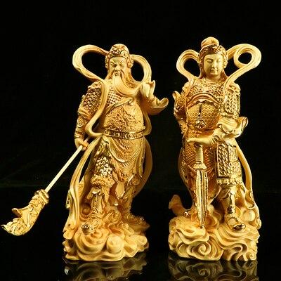 Adornos exquisitos Guan Gong Jia Lan Supreme bouddha Bodhisattva alrededor del Dios guardián estatua puerta decoración del hogar Accesorios Ebebek Bebbek verano bebé niña Tropical Supremo Crew-Neck body