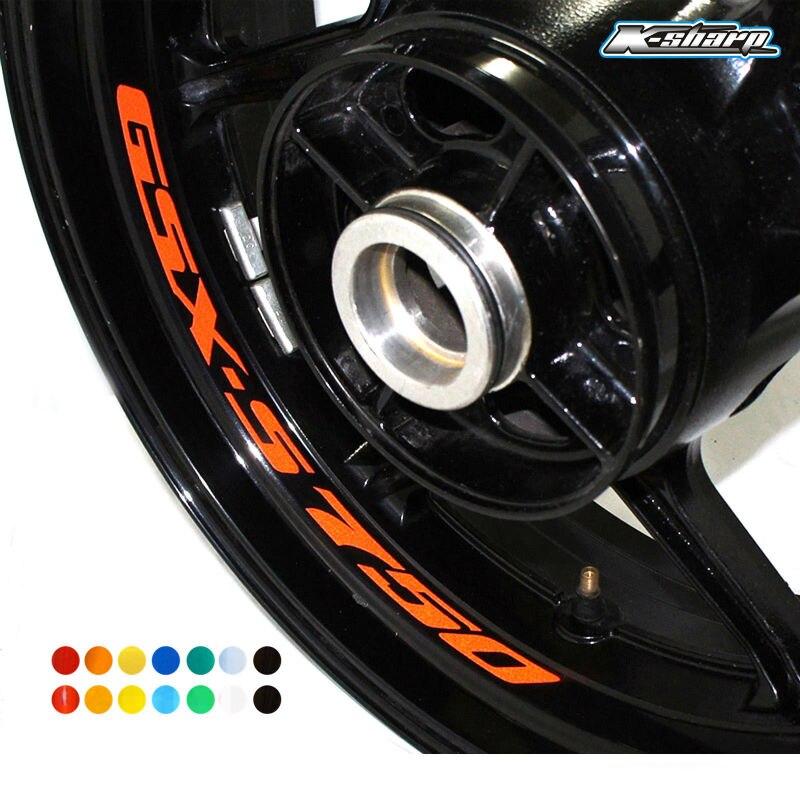 8 X CUSTOM Inne Rim Decals Wheel Reflective Stickers Stripes For SUZUKI GSX-S 750 Gsxs 750 Gsx S750