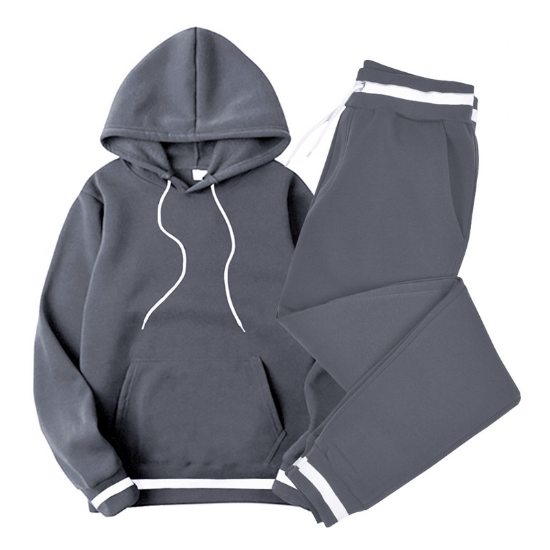 Sets Tracksuit Men 2020 Srring Autumn Hooded Sweatshirt Drawstring Outfit Sportswear Casual Male Suit Pullover Two Piece Set
