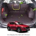 Для Mazda CX-5 KF 2017-Present автомобильный коврик для ботинок задний багажник лайнер грузовой пол ковёр лоток протектор внутренние аксессуары коври...