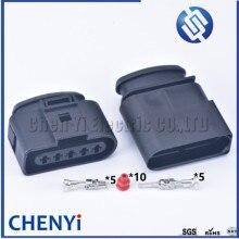 1 компл. 5 контактов 3,5 мм 1J0973725 разъем для автомобильной катушки зажигания разъем датчика водонепроницаемый Женский или Мужской Разъем 4D0973725...