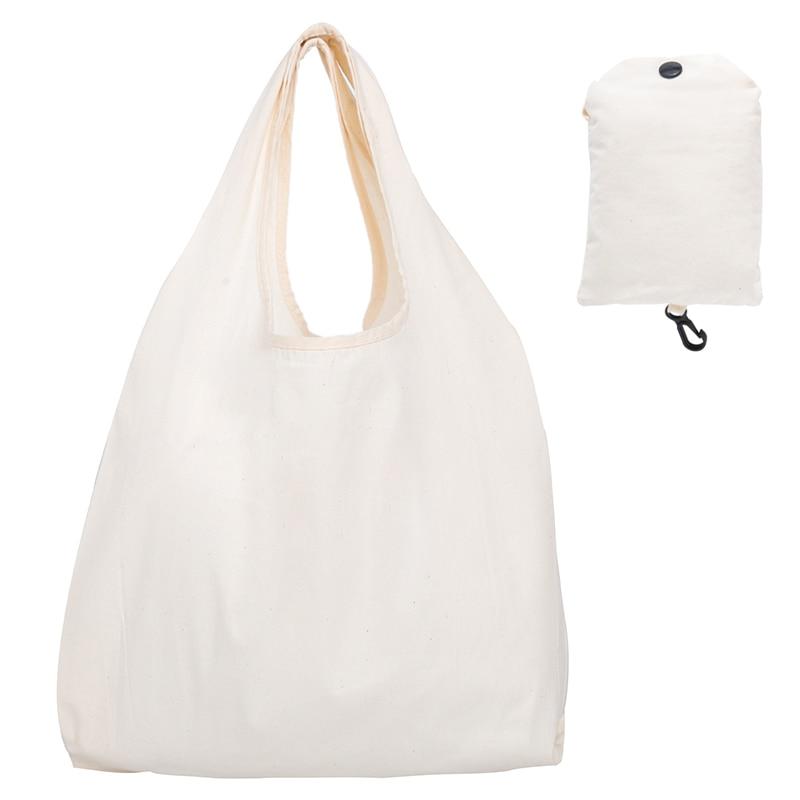 Reusable Cotton Shopping Bag Women Men Travel Shopper Tote Storage Bags Support Custom