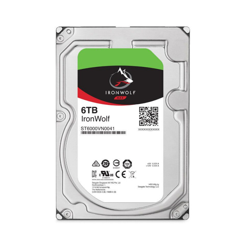"""New HDD For Seagate Brand IronWolf 6TB 3.5"""" SATA 6 Gb/s 128MB 7200RPM For Internal HDD For EnterpriseHDD For ST6000VN0033/0041 3"""