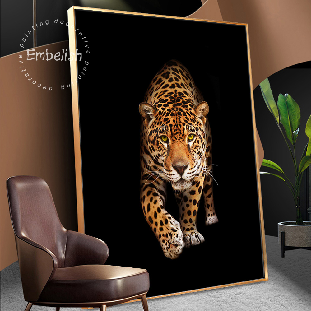 1 шт. дикий Животные леопардовым Современный домашний декор настенные картины для Гостиная HD Печать на холсте маслом Картины Спальня произв...