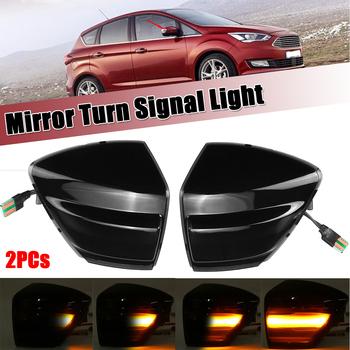 2 sztuk LED dynamiczny kierunkowskaz w lusterku światło dla Ford s-max 07-14 Kuga C394 08-12 c-max 11-19 płynący sygnał skrętu lampka migacza tanie i dobre opinie CN (pochodzenie) Turn Signal Other 12 v YELLOW 150g Signal Lamp Normal
