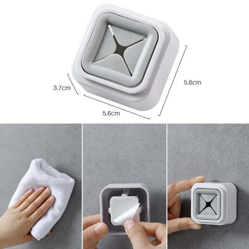 Wall Shelf Wash Cloth Clip Holder Clip No Punch Dishclout Towel Rack Towel Oranizer Storage Plug Hooks Rack Hanger Kitchen Tools
