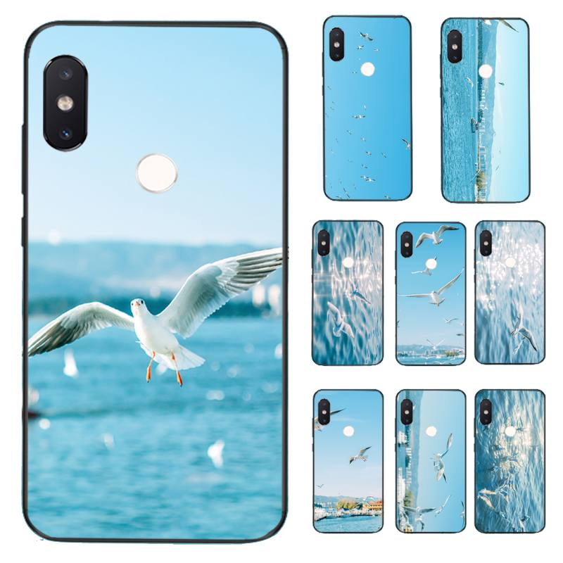 HTxian Seagull <font><b>Seabirds</b></font> summer seaside Phone <font><b>Case</b></font> for Xiaomi Redmi 5 5Plus 6 6A 4X 7 7A 8 8A 9 Note 5 5A 6 7 8 8Pro 8T 9 image