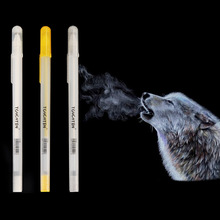 Highlighter-Pen Marker-Liner-Brush Painting Art-Supplies Drawing White-Color H6393 3pcs