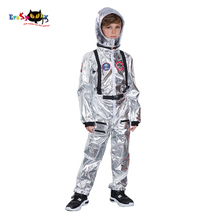Helmet Jumpsuit Halloween-Costume Spaceman Astronaut Pilot-Uniform Silver Cosplay Children Carnival
